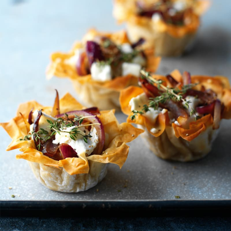 Photo of Caramelised red onion and goat's cheese tarts by WW