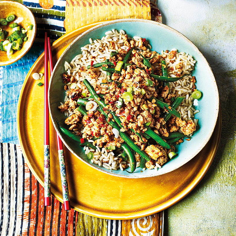 Photo of Spicy szechuan turkey mince with green beans by WW