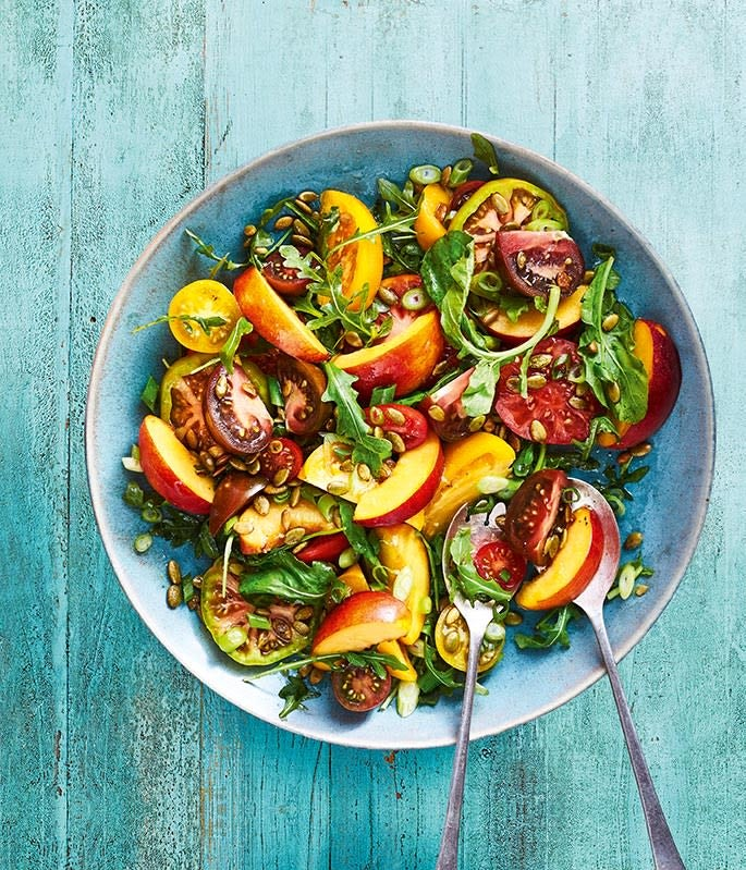 Photo of Tomato & nectarine salad with pumpkin seeds by WW