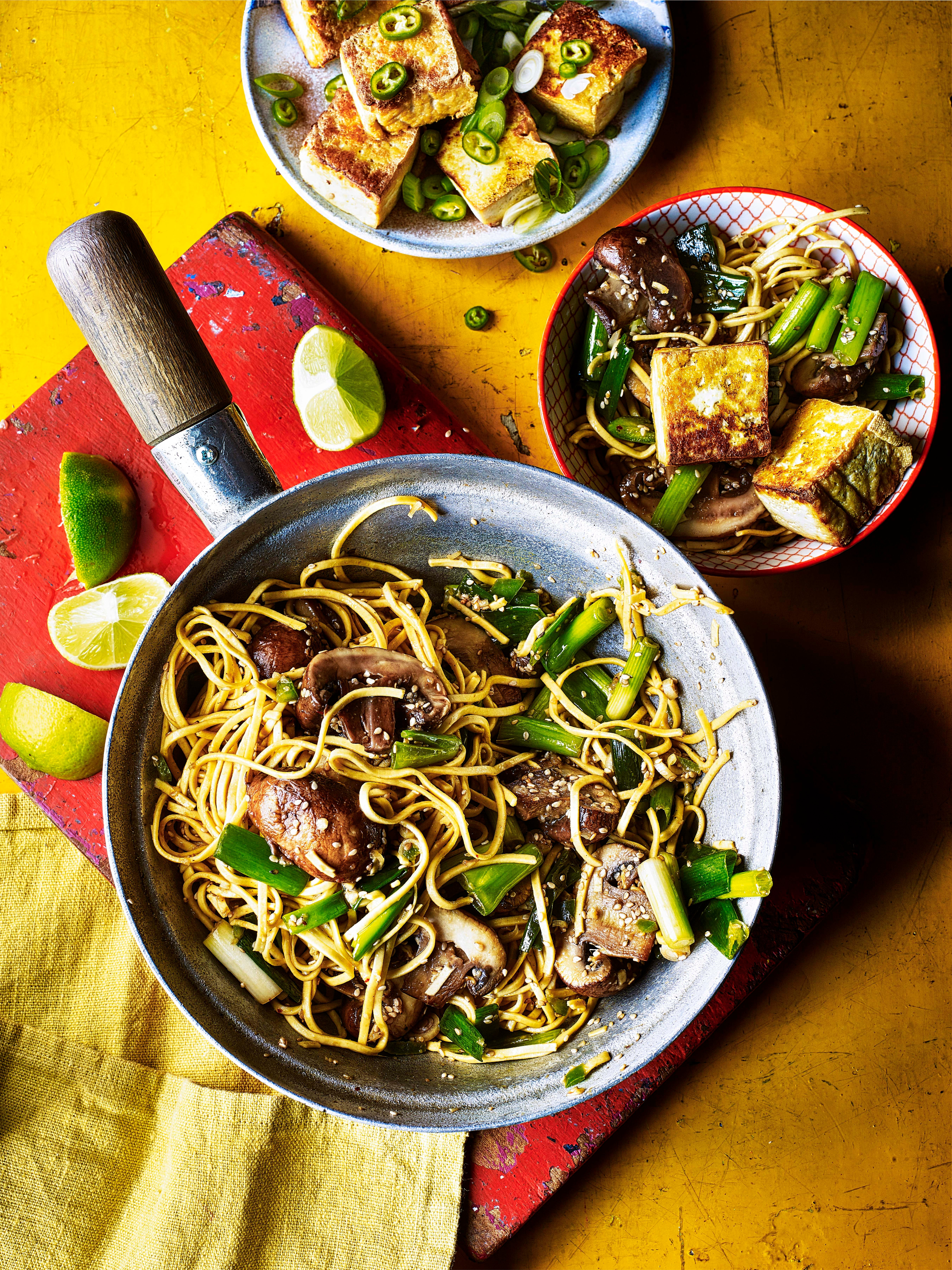 Photo of Tofu & mushroom stir-fry with sesame noodles by WW