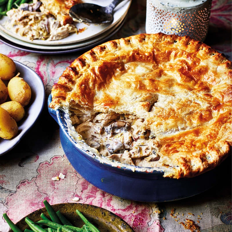 Photo of Easy chicken & mushroom pie by WW