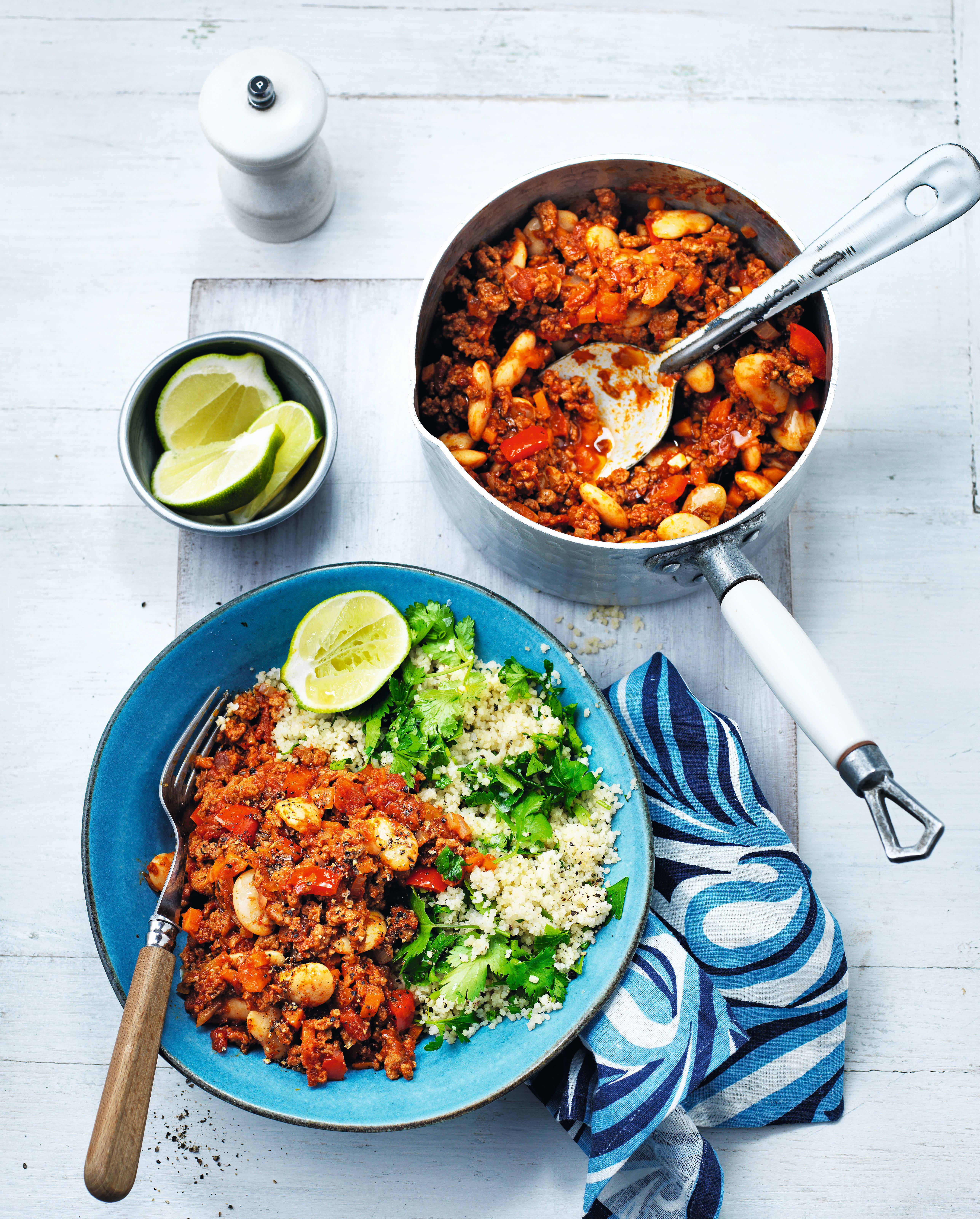 Photo of Veggie chilli with herby couscous by WW