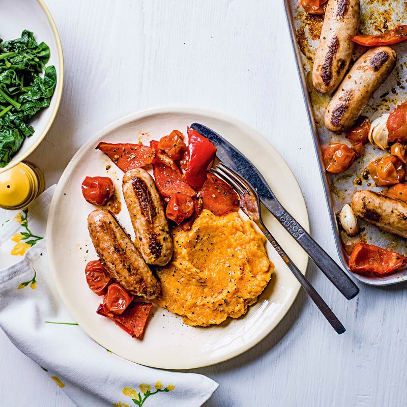 Photo of Sausage, cherry tomato & red pepper bake by WW