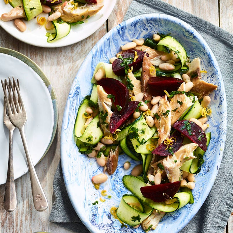 Photo of Mackerel, courgette, beetroot & white bean salad by WW