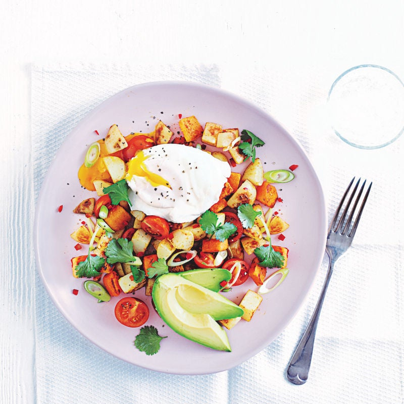 Photo of Tex-Mex hash with poached eggs by WW