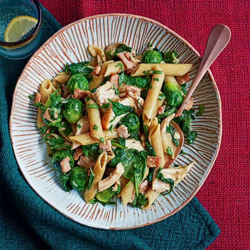 Photo of Penne with turkey, bacon & Brussels sprouts by WW