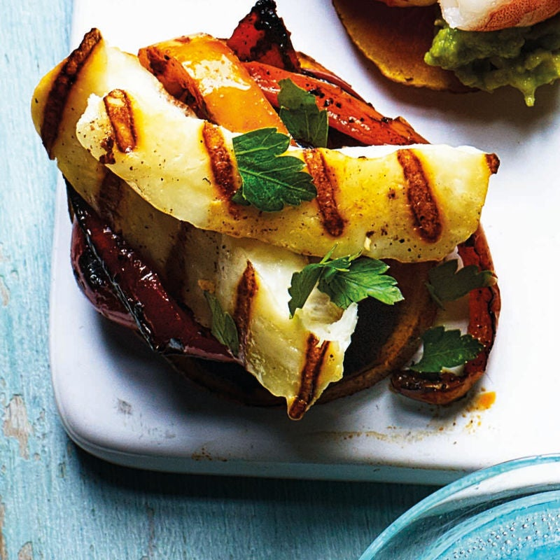 Photo of Sweet potato toasts with halloumi & peppers by WW