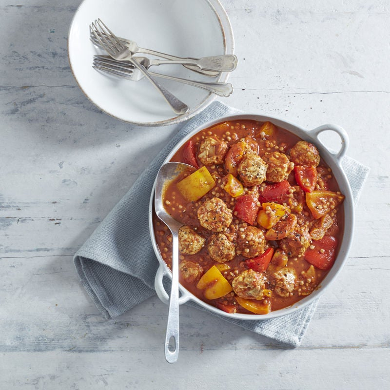 Photo of Moroccan meatball, pepper and apricot tagine by WW
