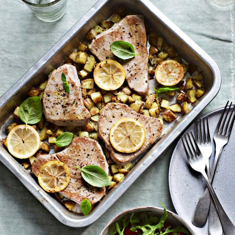 Photo of Tuna, herb & lemon traybake by WW