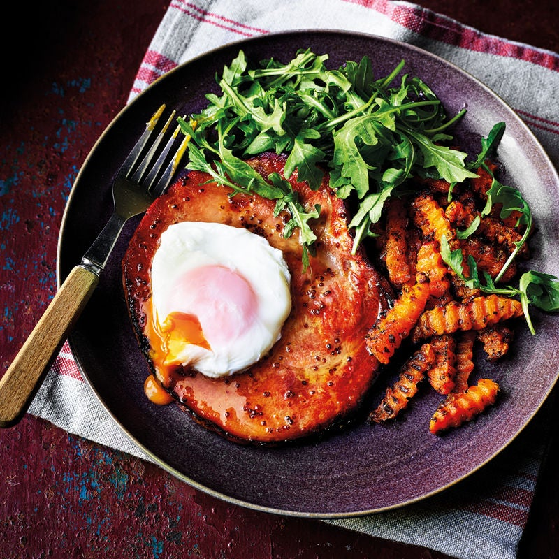 Photo of Gammon, egg & butternut squash chips by WW