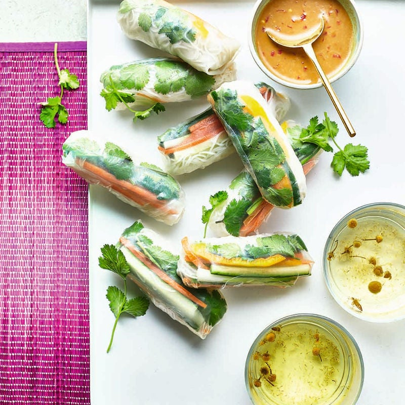 Photo of Summer rolls with satay sauce by WW