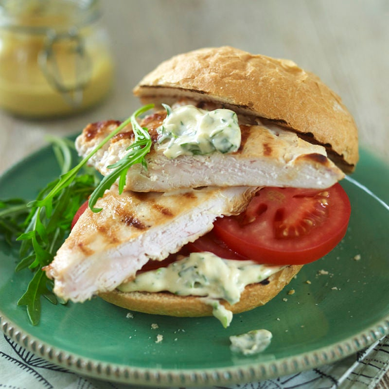 Photo of Chicken salad sandwich with herby lemon mayo by WW