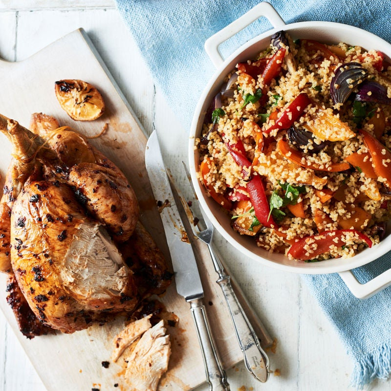 Photo of Harissa roast chicken & bulgar wheat by WW
