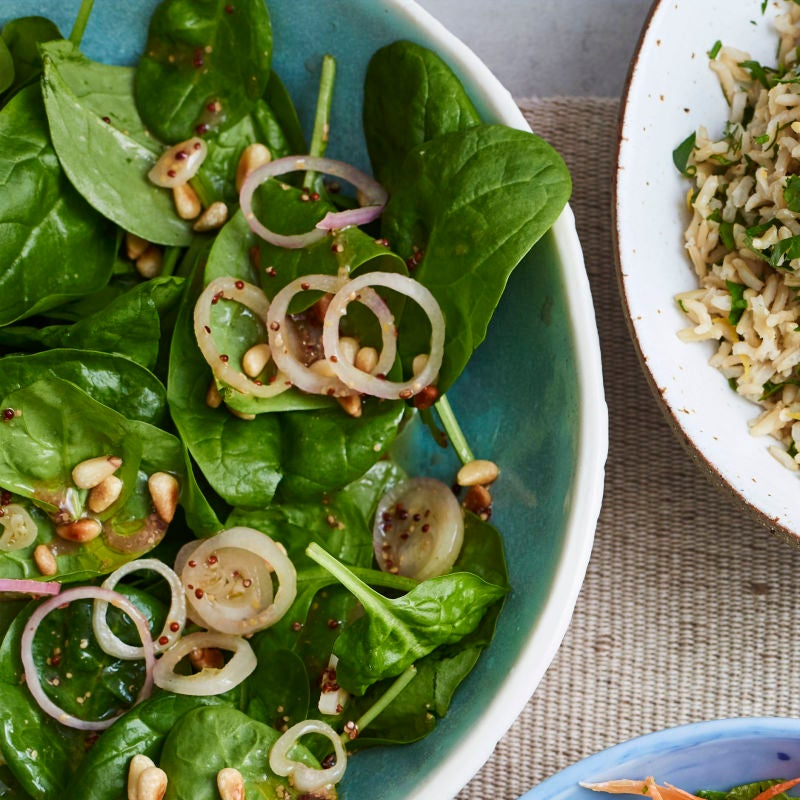 Photo of Spinach & pine nut salad by WW