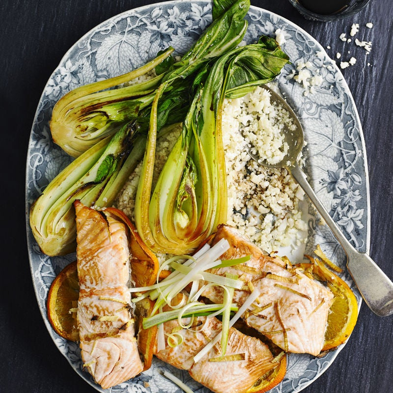 Photo of Orange & ginger baked salmon by WW
