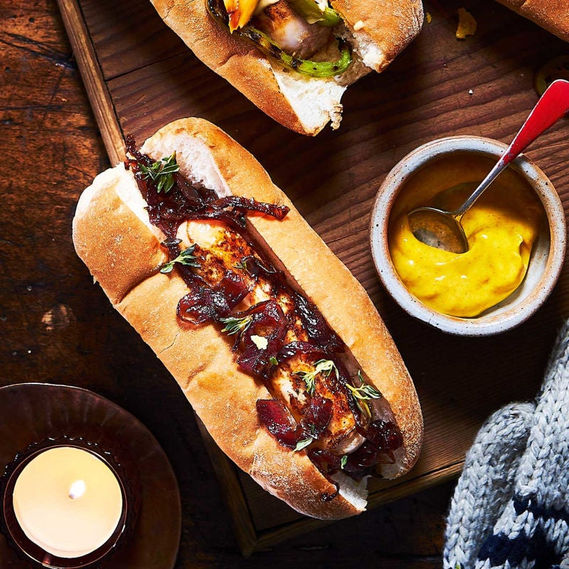 Photo of Caramelised onions & thyme hot dog by WW