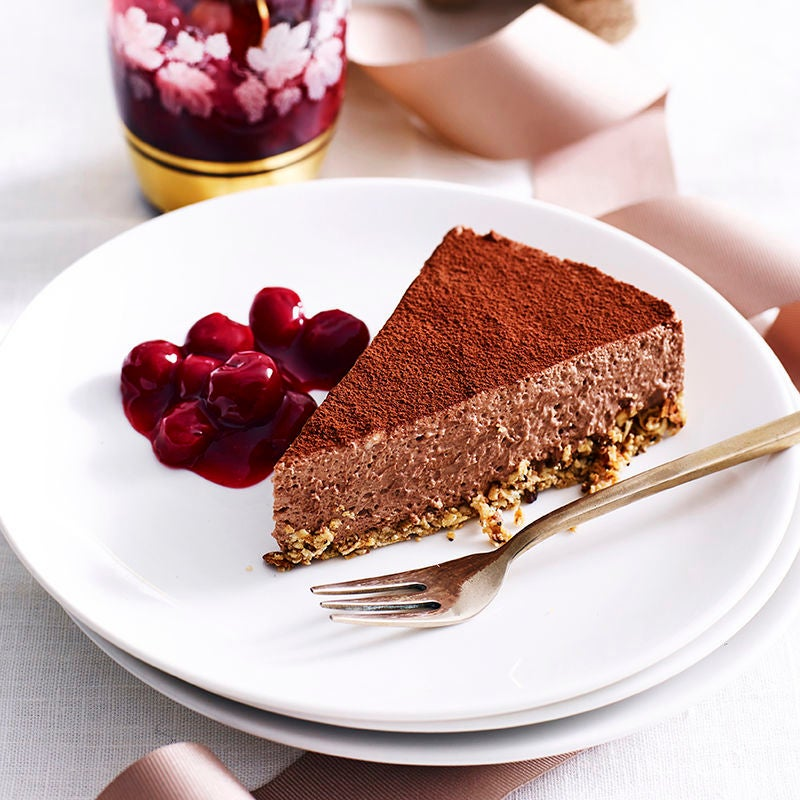 Photo of Chocolate cheesecake with cherry sauce by WW
