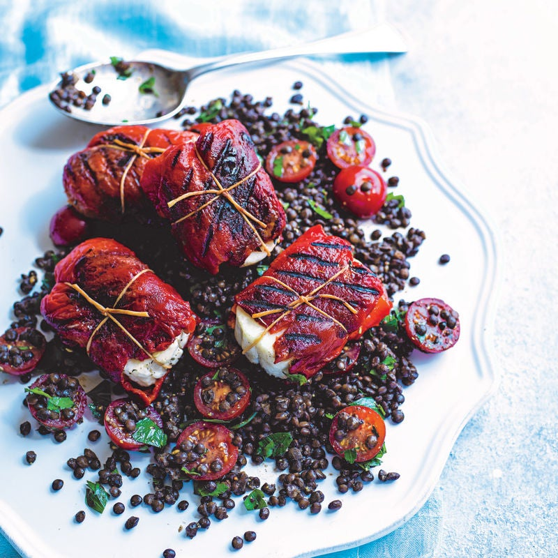 Photo of Haloumi & red pepper parcels with Puy lentil salad by WW