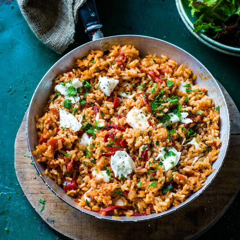 Photo of Oven-baked red pepper risotto by WW