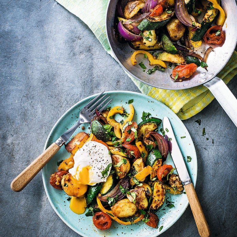 Photo of Veggie hash with poached eggs by WW