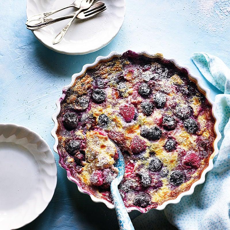 Photo of Raspberry, blueberry & cherry clafoutis by WW
