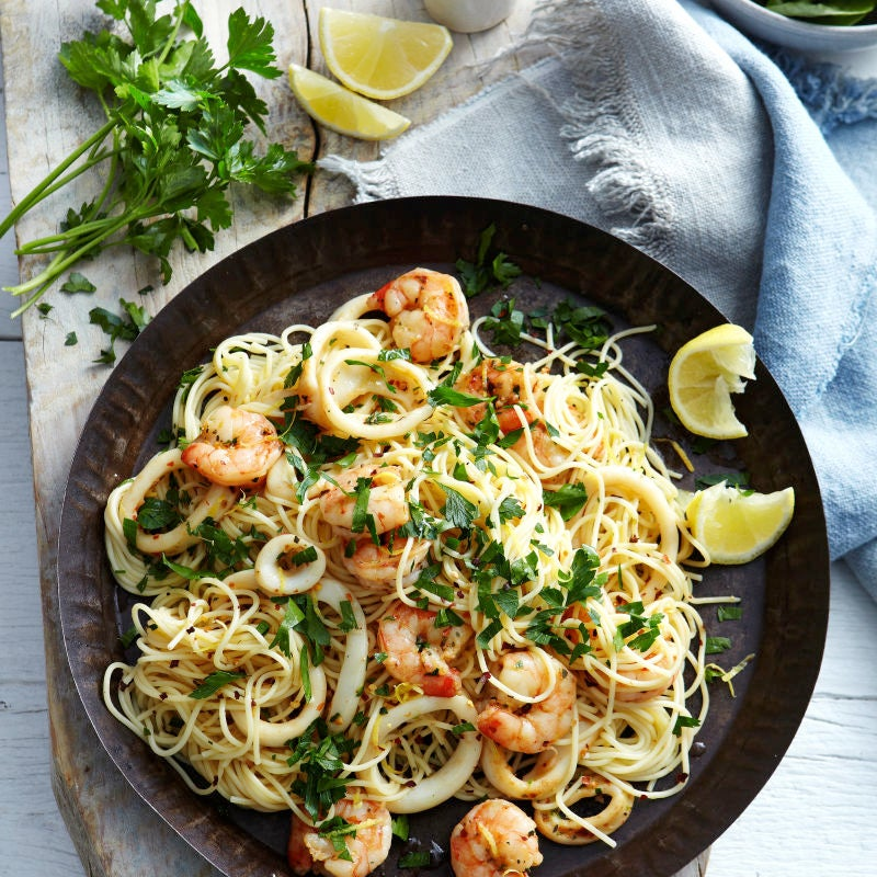 Photo of Lemon capellini with prawns & calamari by WW