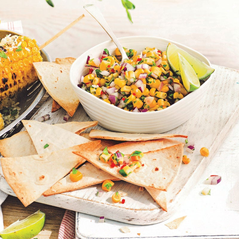 Photo of Sweetcorn salsa with tortilla chips by WW