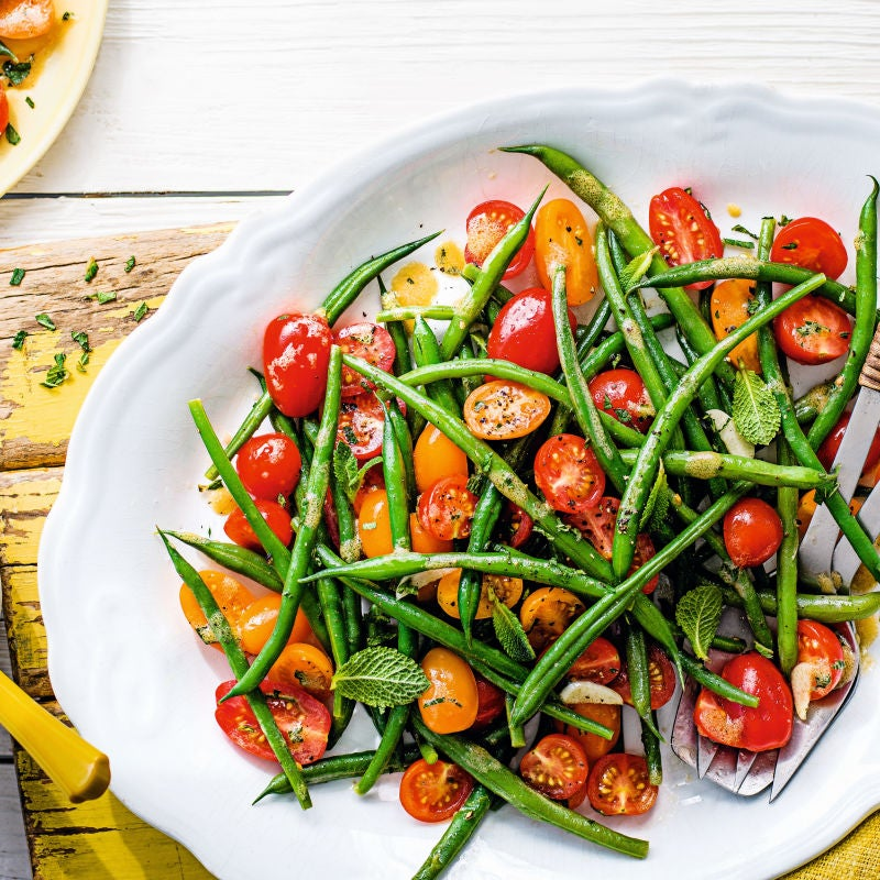 Photo of Fresh mint, green bean & tomato salad by WW