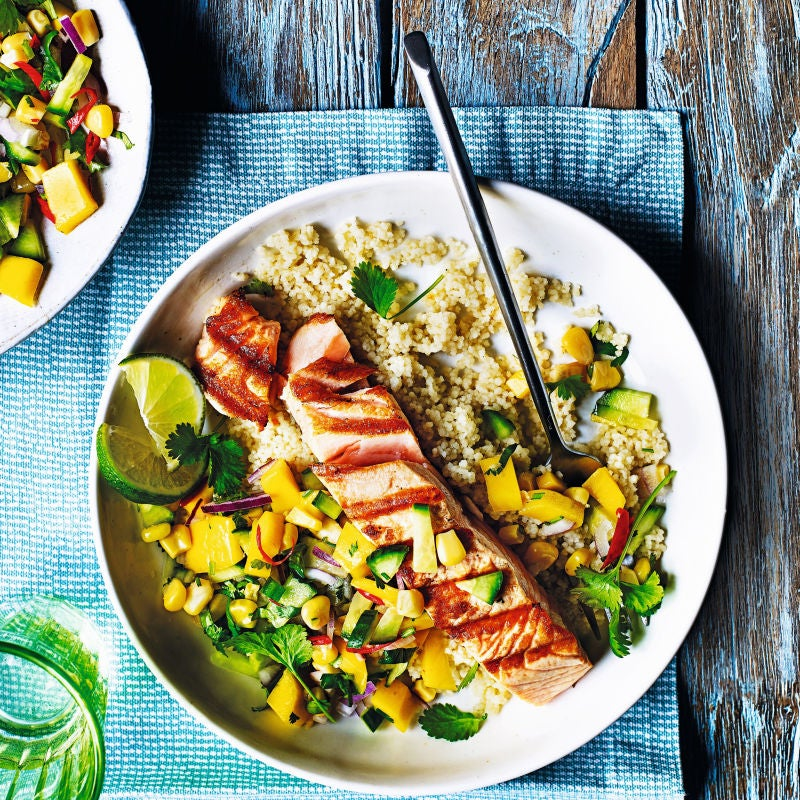 Photo of Salmon with mango salsa & couscous by WW