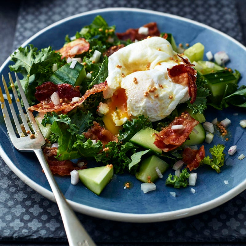 Photo of Kale, pancetta & poached eggs by WW