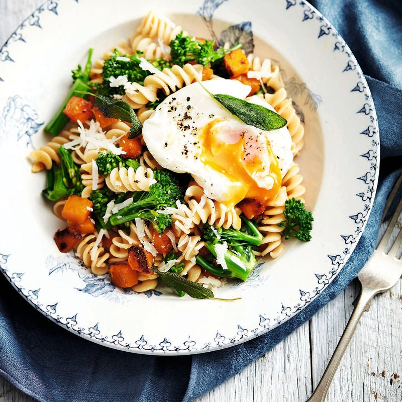 Photo of Spelt pasta with squash & egg by WW