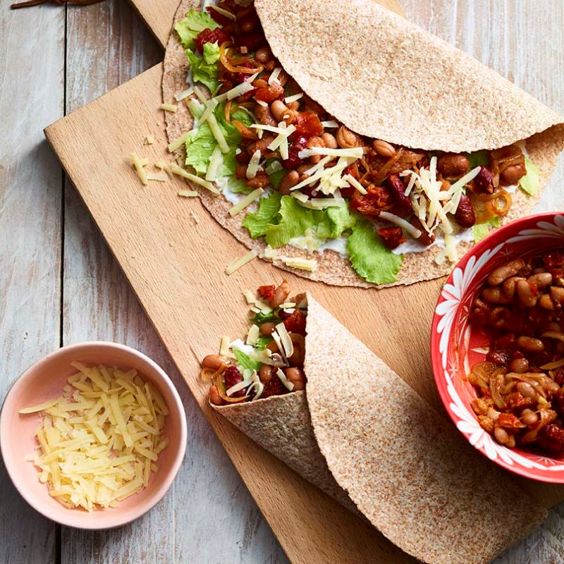 Photo of Mexican bean wraps by WW
