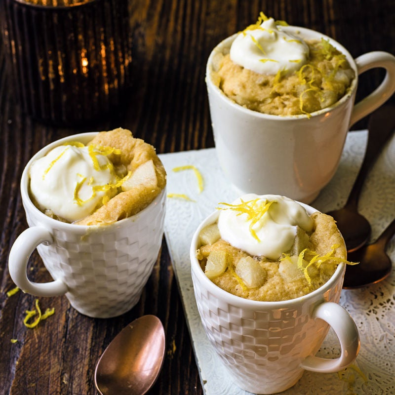 Photo of Lemon, ginger & pear mug cakes by WW