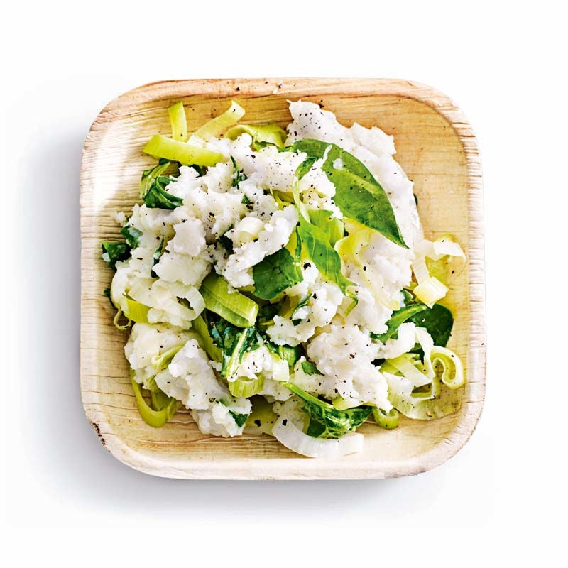 Photo of Young leaf spinach & leek colcannon by WW