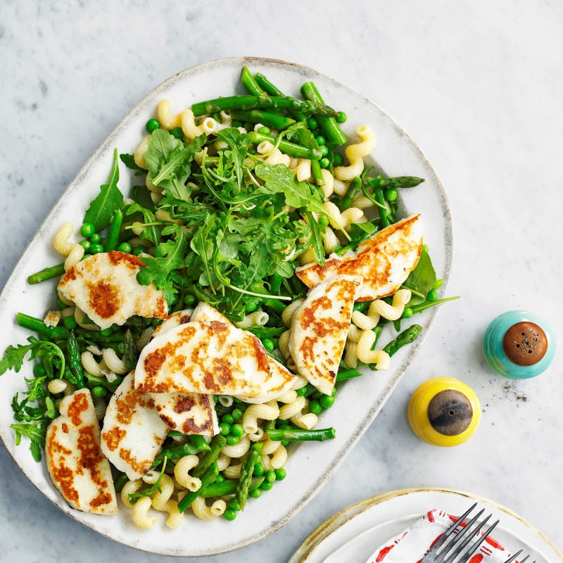Photo of Pea, asparagus, rocket & halloumi pasta salad by WW