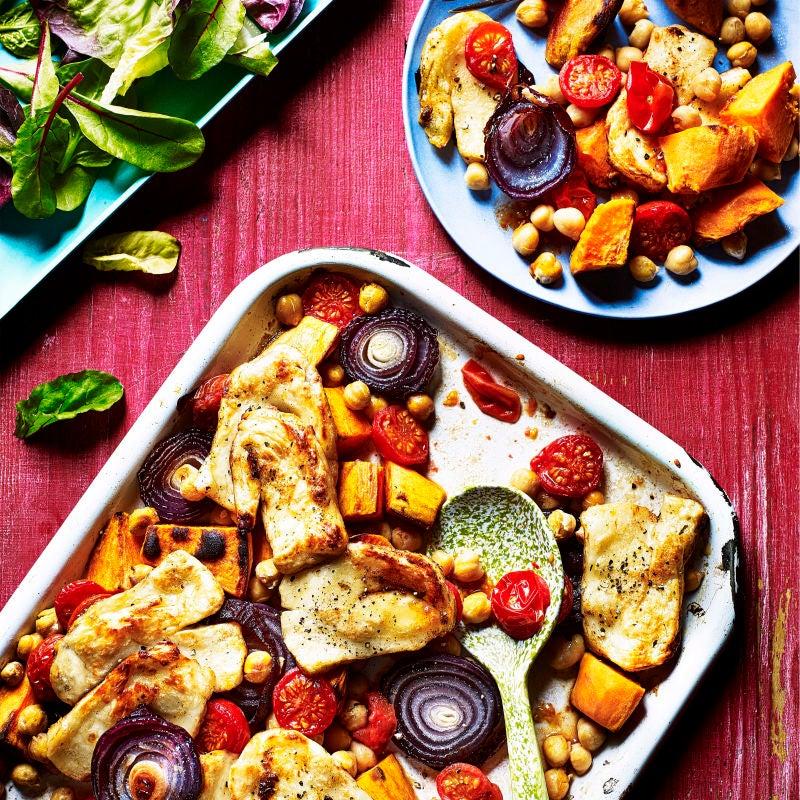 Photo of Piri piri halloumi & sweet potato traybake by WW