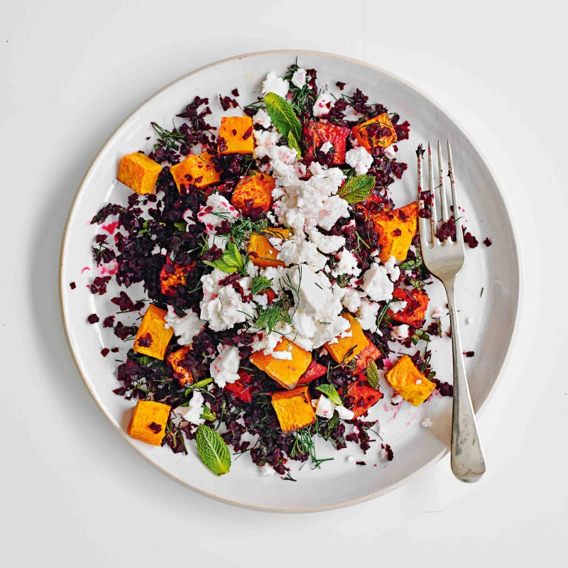 Photo of Beetroot couscous with roast squash & feta by WW