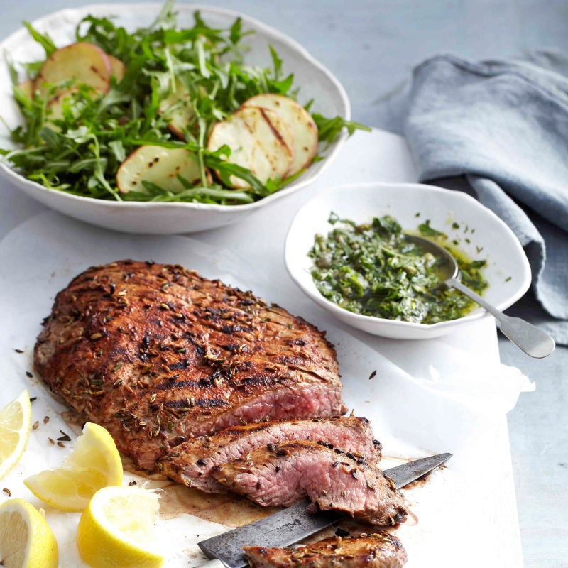 Photo of Italian-style beef with chargrilled potato salad by WW