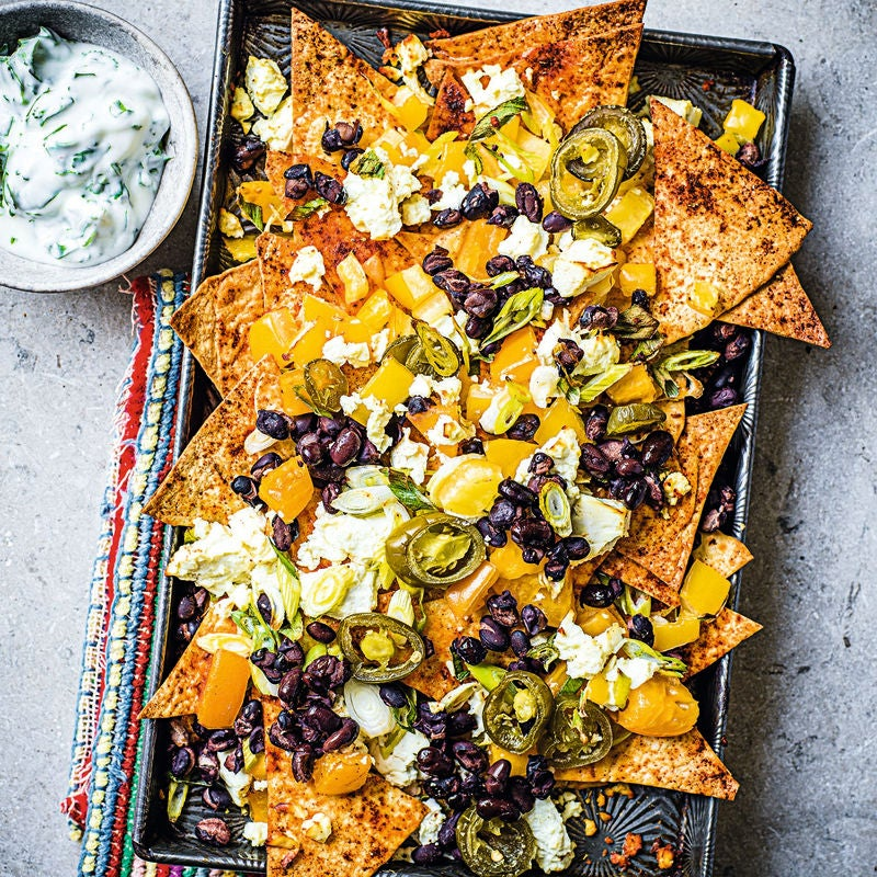 Photo of Feta & black bean nachos by WW