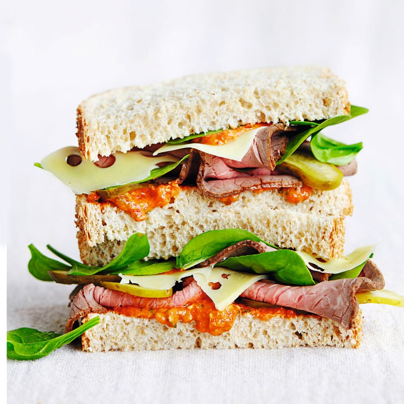 Photo of Roast beef sandwiches with pecan romesco sauce by WW