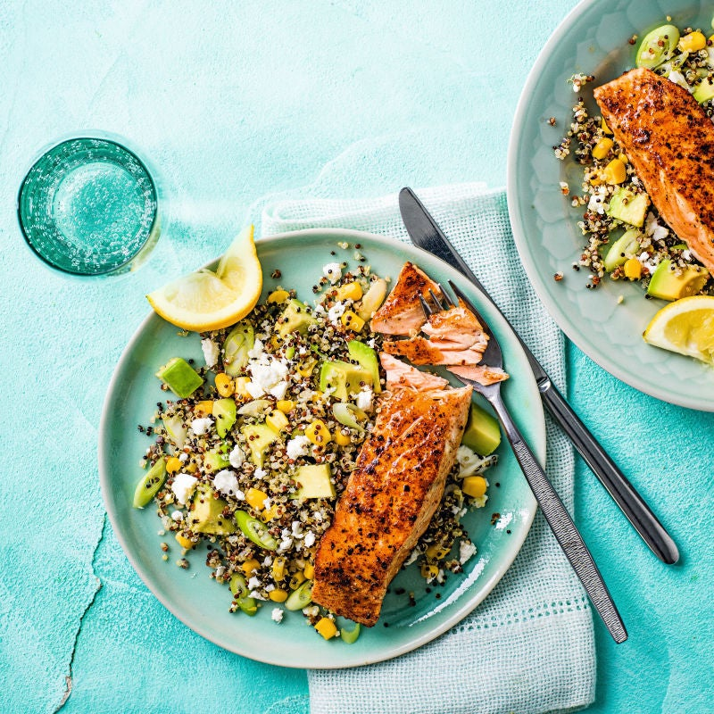 Photo of Blackened salmon with quinoa salad by WW