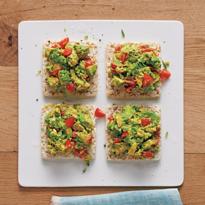 Photo of Guacamole-topped rice cakes by WW