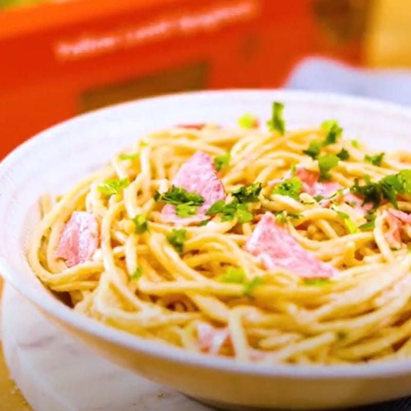 Photo of Carbonara with WW Lentil Spaghetti by WW