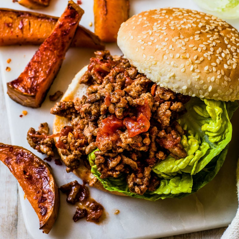 Photo of Sloppy Joe with butternut squash wedges by WW