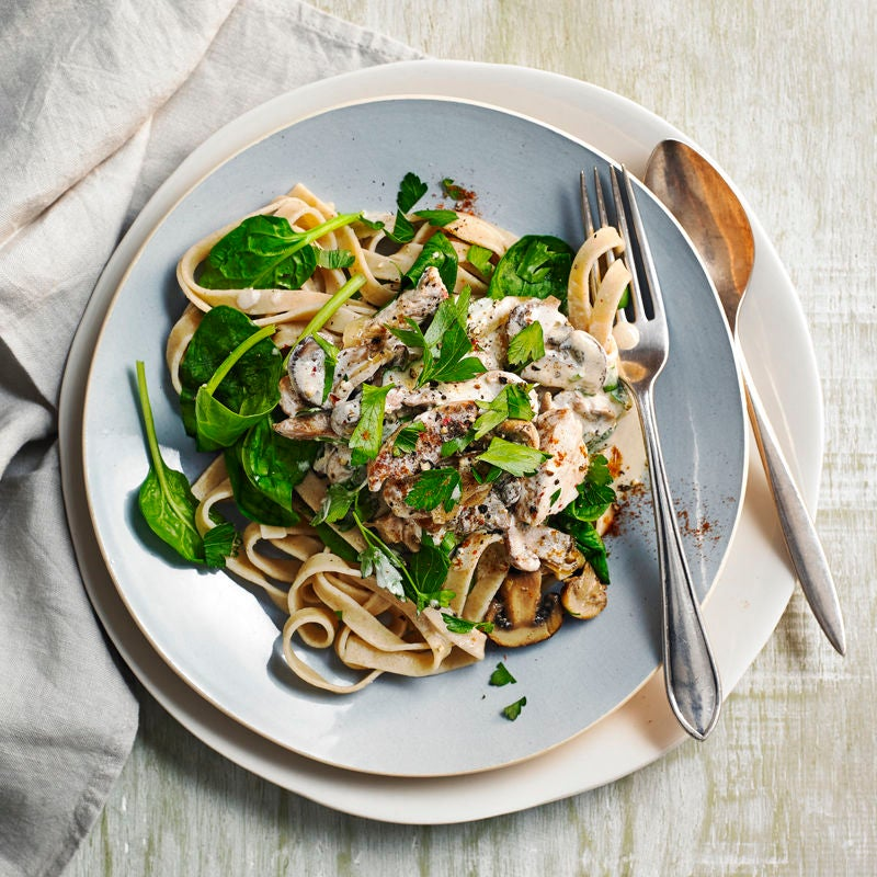 Photo of Tagliatelle with pork & mushrooms by WW