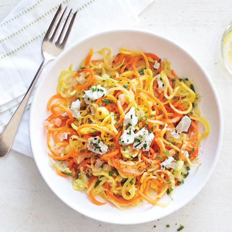 Photo of Veggie 'pasta' with lemon, chives & goat's cheese by WW