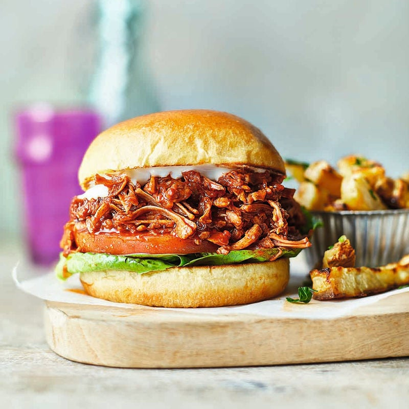 Photo of Pulled jackfruit burgers with celeriac chips by WW