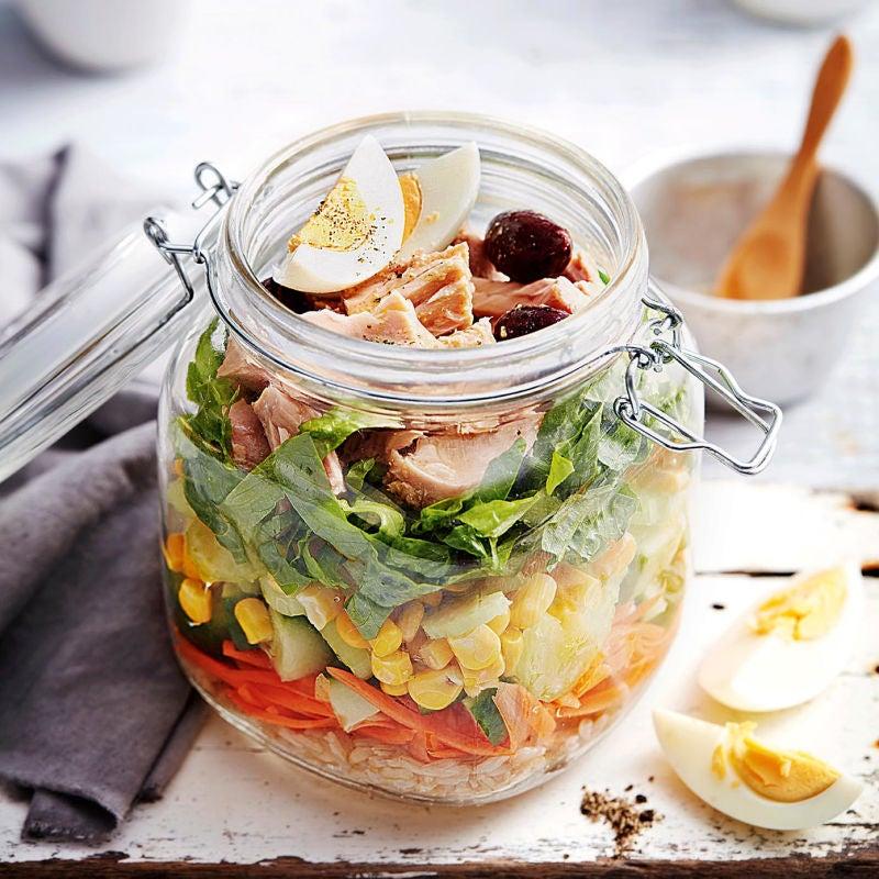 Photo of Brown rice & tuna salad in a jar by WW