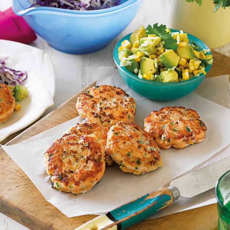 Photo of Lime fish cakes with corn salsa & slaw by WW
