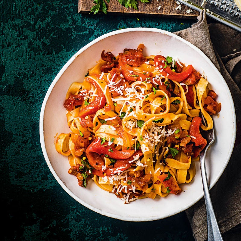 Photo of Tomato & pepper tagliatelle by WW